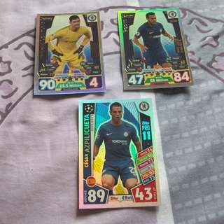 Match Attax Premier League 17/18 Pro 11 cards (Chelsea)