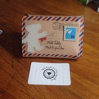 Milk Teddy Purse / Wallet (Dompet)