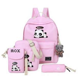Backpack fashion panda ( tanpa gantungan boneka panda )