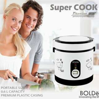 Super Cook Magic Com Mini 0.6 Liter Rice Cooker Bolde