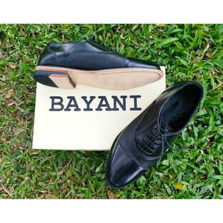 'Rizal' Black Cap Toe Plain