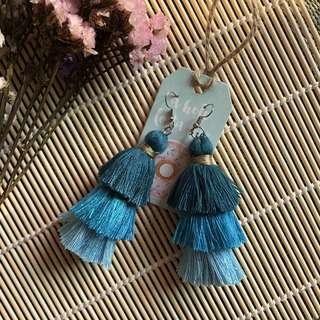 Blue Ocean Layered Tassel