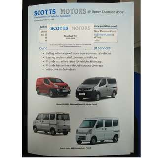 Brand new commercial vehicles for sale