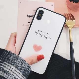 手機殼IPhone6/7/8/plus/X : 小清新韓風愛心笑臉