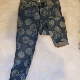 Lauren Conrad printed denim (US 4)