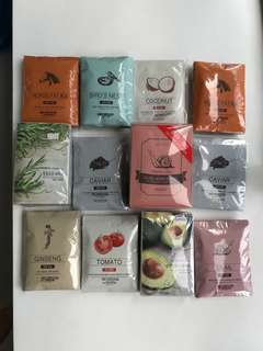 Brand New Facial Masks from Korea!  Mix and match your set for $1 each!