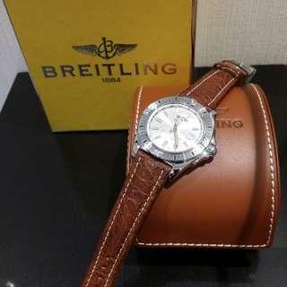 全新BREITLING皮帶手錶(有保養證)有心買價格可商議
