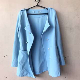Powder Blue Coat/Vest