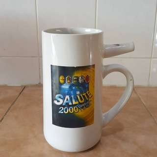 Vintage salute 2000 whistle mug