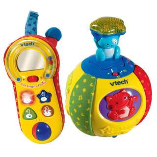 vtech soft singing pop up phone and surprise ball