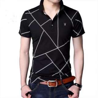 Geometric Print Polo Shirt