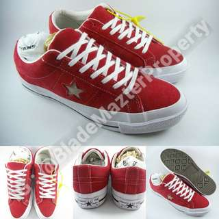Sepatu Kets Converse OX One Star Suede Chili Red Merah Cabe 67ad821d1