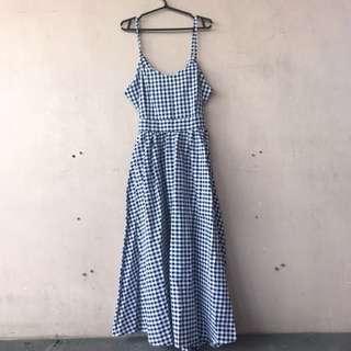Maxi Gingham Dress