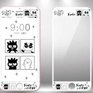 保護膜 IPhone6/7/8/plus : 卡通白色款XO(企鵝)3D軟邊鋼化膜