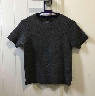 Zara black Knitted shirt