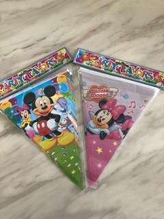 Children birthday party banner - goodies bag with appshop1