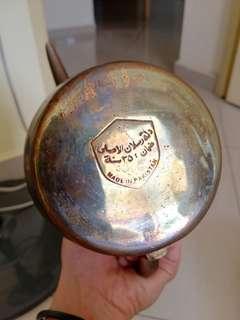 Antique metal oxidized pot