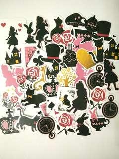 Alice in Wonderland sticker pack