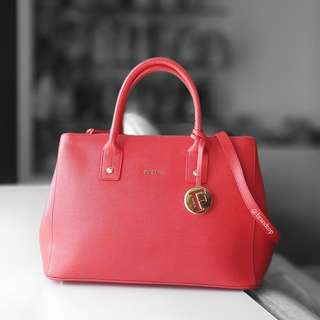 Authentic Furla Red Cabernet Serena Tote