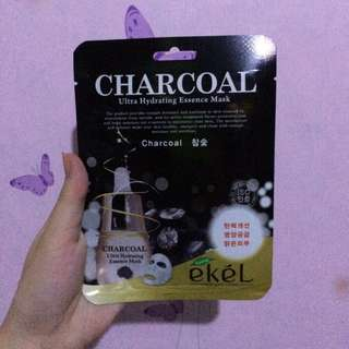 Authentic ekél charcoal ultra hydrating essence mask