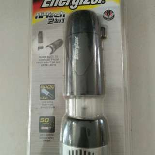 BNIB Energizer Hi-tech 2 in 1 Super Bright Torch Light