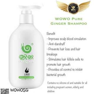 WOWO GINGER SHAMPOO 100% AUTHENTIC
