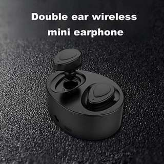 Mini Earphone K2 TWS Twins True Bluetooth 4.1 Wireless Running Handsfree Stereo Earbuds Headset with Mic Charge Box for Phone