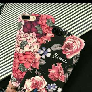 Floral/Be brave iphone case