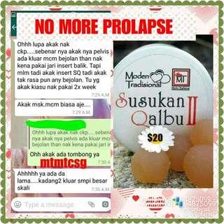 No more prolapse