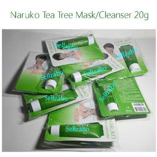 Travel Size Tea Tree Purifying Clay Cleanser Cum Mask Facial Wash Sellzabo Taiwan Naruko 20g Blemish Prone Oily Skin Face