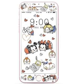 保護膜 IPhone6/7/8/plus : TSUMTSUM3D軟邊鋼化膜