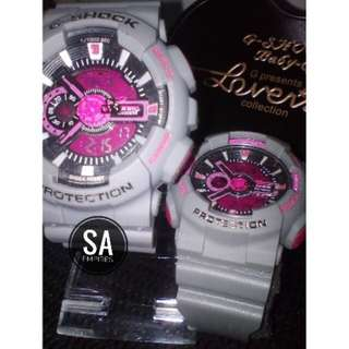 G-shock Couple Grey Pink Gred A+ (FREE BOX)