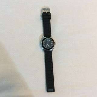 Preowned in Very Good Condition Coach UNISEX Boyfriend Watch BLACK RUBBER