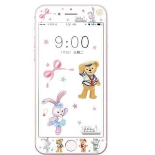 保護膜 IPhone6/7/8/plus : 芭蕾兔Duffy3D軟邊鋼化膜