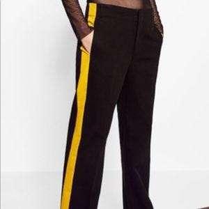 Zara trousers with side stripe