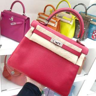 Hermes Kelly 25 糖果紅 Epsom