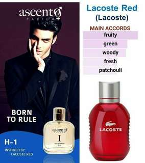 FOR HOMME inspirer by lacoste red