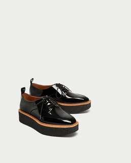 Zara platform derby shoes