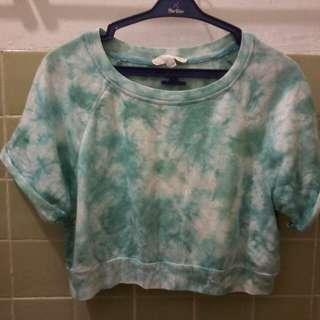 dye washed crop top
