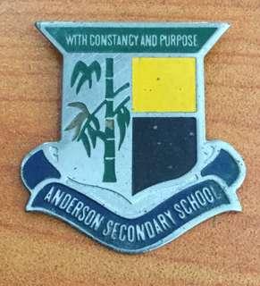 Vintage...ANDERSON SECONDARY SCHOOL Metal Badge