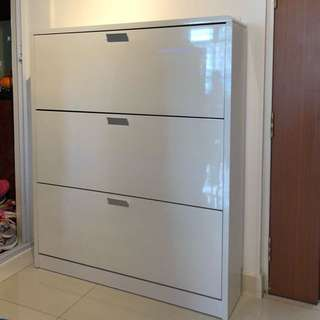 Brand New White Gloss Shoe Cabinet