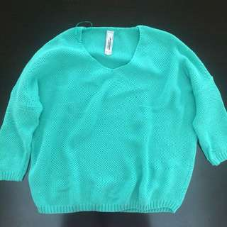 Pull & Bear Green Lime Sweater