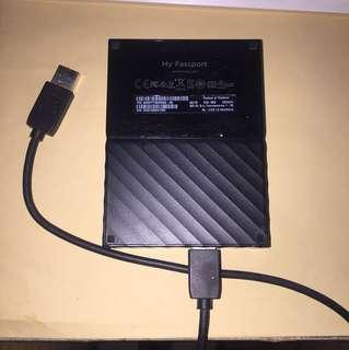 WD MY PASSPORT 2017 2TB USB 3.0 Portable External Hard Drive (Black)