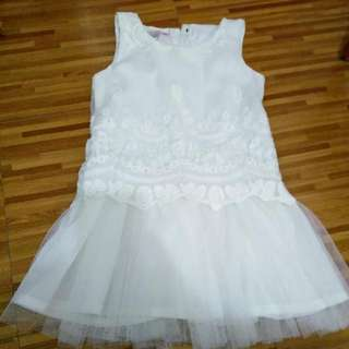 White lace baby dress for 1 to 2 years
