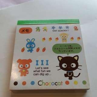 Sanrio 96年經典款 Chococat memo紙