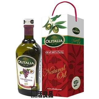 🚚 ※樂活良品※ 奧利塔義大利葡萄籽油(1000ml)單瓶禮盒組/加碼特惠請看賣場介紹