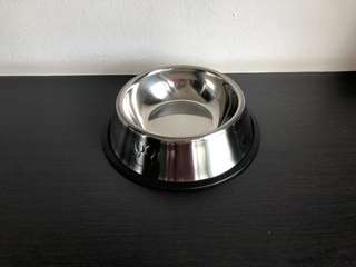 Stainless Steel Bowl with Paw Prints