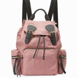 Burberry Medium Rucksack Nylon Backpack (Mauve Pink)