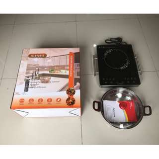 Elite Portable Induction Cooktop Kompor Listrik Induksi With Stainless Handle