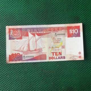 Nice number $10 ship note